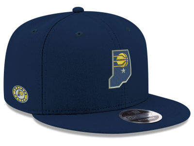 Indiana Pacers New Era NBA Basic Link 9FIFTY Snapback Cap