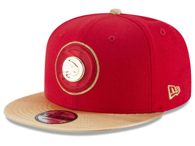 Atlanta Hawks New Era NBA Gold Rush Pin 9FIFTY Snapback Cap