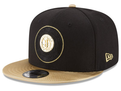 Brooklyn Nets New Era NBA Triple Gold 9FIFTY Snapback Cap