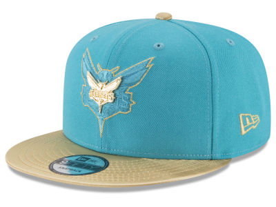 Charlotte Hornets New Era NBA Gold Rush Pin 9FIFTY Snapback Cap