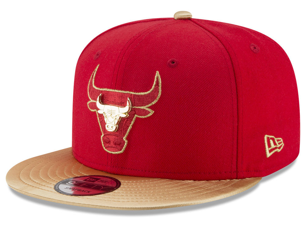 Chicago Bulls New Era NBA Gold Rush Pin 9FIFTY Snapback Cap  43fc1698d55