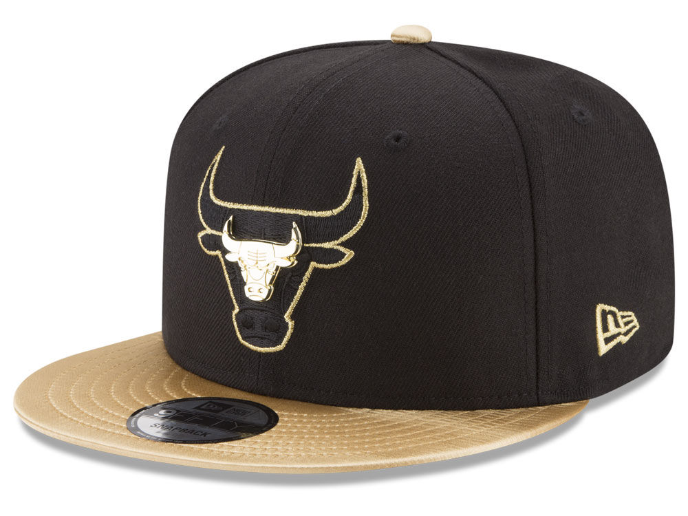 0093fc1348a Chicago Bulls New Era NBA Gold Rush Pin 9FIFTY Snapback Cap