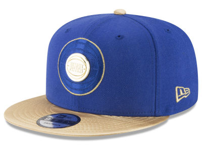 Detroit Pistons New Era NBA Triple Gold 9FIFTY Snapback Cap