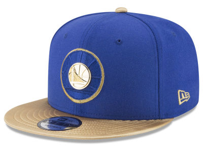 Golden State Warriors New Era NBA Triple Gold 9FIFTY Snapback Cap