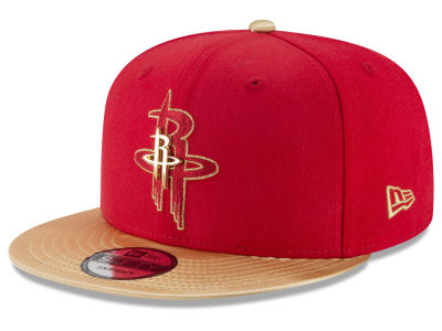 Houston Rockets New Era NBA Triple Gold 9FIFTY Snapback Cap