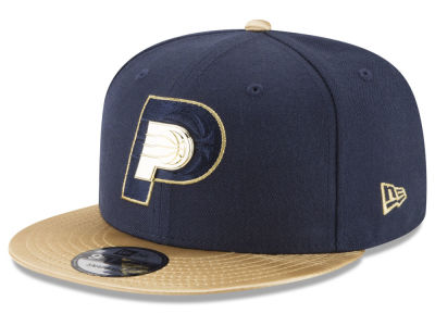 Indiana Pacers New Era NBA Triple Gold 9FIFTY Snapback Cap