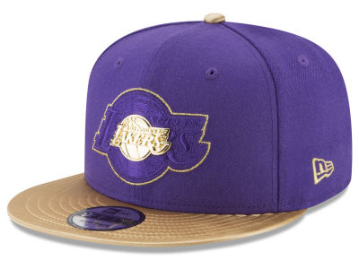 Los Angeles Lakers New Era NBA Gold Rush Pin 9FIFTY Snapback Cap