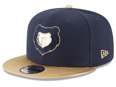 Memphis Grizzlies New Era NBA Triple Gold 9FIFTY Snapback Cap