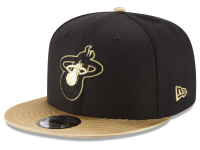 Miami Heat New Era NBA Triple Gold 9FIFTY Snapback Cap