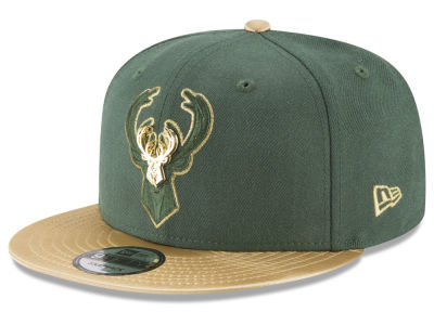 Milwaukee Bucks New Era NBA Triple Gold 9FIFTY Snapback Cap