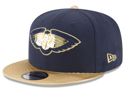 New Orleans Pelicans New Era NBA Triple Gold 9FIFTY Snapback Cap
