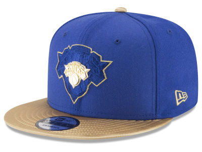 New York Knicks New Era NBA Gold Rush Pin 9FIFTY Snapback Cap