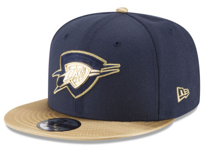 Oklahoma City Thunder New Era NBA Triple Gold 9FIFTY Snapback Cap