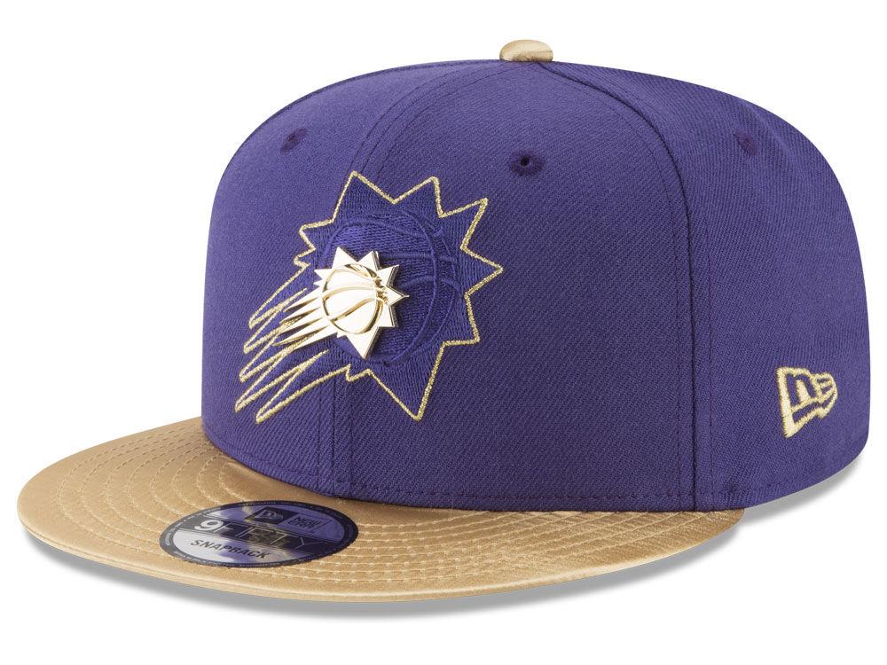 Phoenix Suns New Era NBA Gold Rush Pin 9FIFTY Snapback Cap  7ddfbb89631