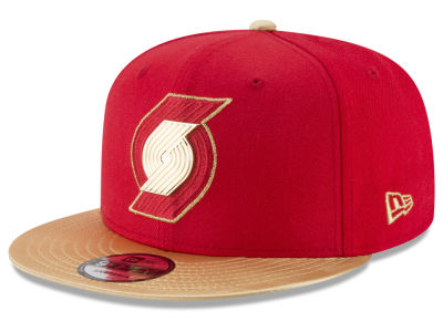 Portland Trail Blazers New Era NBA Triple Gold 9FIFTY Snapback Cap