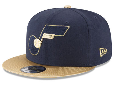 Utah Jazz New Era NBA Triple Gold 9FIFTY Snapback Cap
