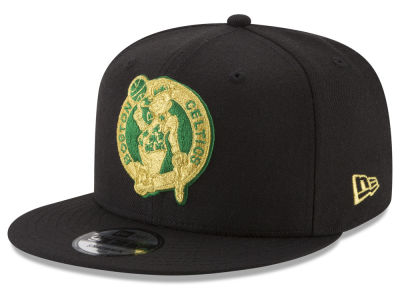 Boston Celtics New Era NBA Gold on Team 9FIFTY Snapback Cap