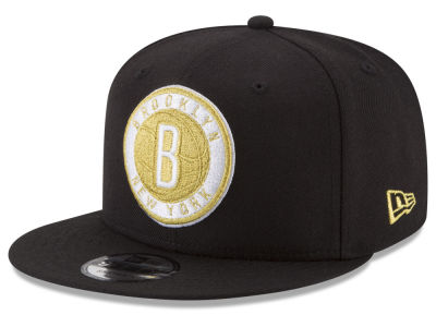 Brooklyn Nets New Era NBA Gold on Team 9FIFTY Snapback Cap