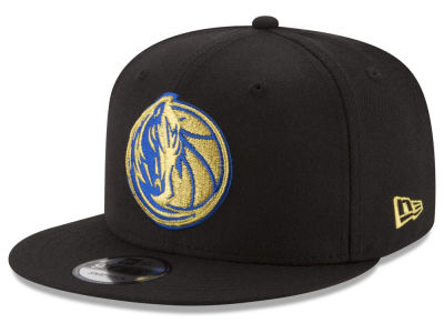 Dallas Mavericks New Era NBA Gold on Team 9FIFTY Snapback Cap