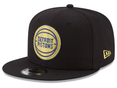 Detroit Pistons New Era NBA Gold on Team 9FIFTY Snapback Cap