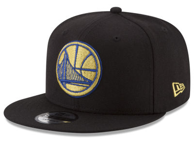 Golden State Warriors New Era NBA Gold on Team 9FIFTY Snapback Cap