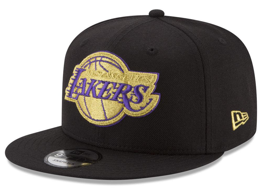cd702bb2a31 Los Angeles Lakers New Era NBA Gold on Team 9FIFTY Snapback Cap ...