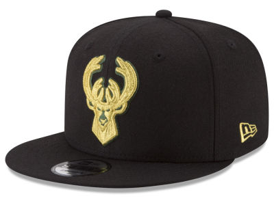 Milwaukee Bucks New Era NBA Gold on Team 9FIFTY Snapback Cap