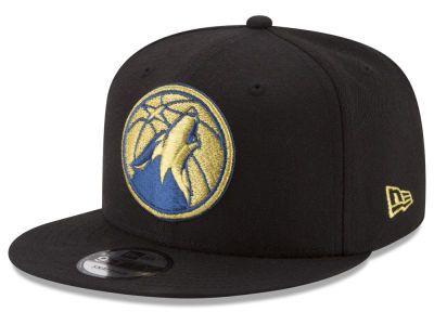 Minnesota Timberwolves New Era NBA Gold on Team 9FIFTY Snapback Cap