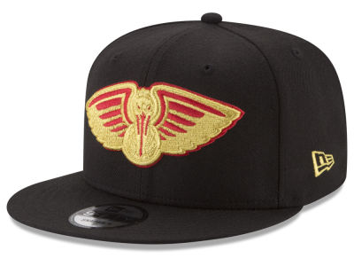 New Orleans Pelicans New Era NBA Gold on Team 9FIFTY Snapback Cap
