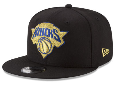 New York Knicks New Era NBA Gold on Team 9FIFTY Snapback Cap