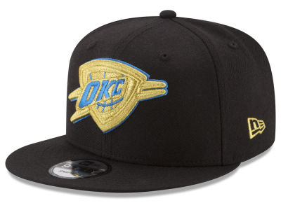 Oklahoma City Thunder New Era NBA Gold on Team 9FIFTY Snapback Cap
