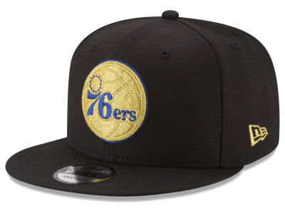 Philadelphia 76ers New Era NBA Gold on Team 9FIFTY Snapback Cap
