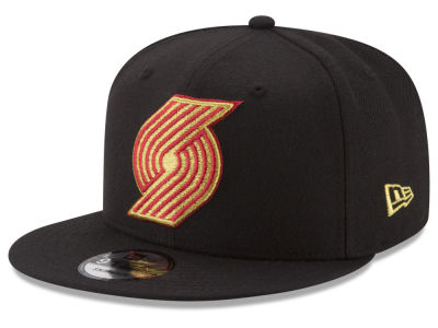 Portland Trail Blazers New Era NBA Gold on Team 9FIFTY Snapback Cap
