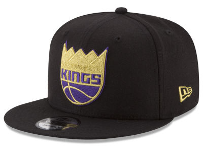 Sacramento Kings New Era NBA Gold on Team 9FIFTY Snapback Cap