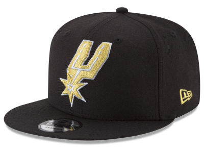 San Antonio Spurs New Era NBA Gold on Team 9FIFTY Snapback Cap