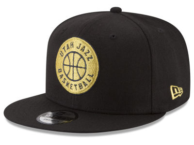 Utah Jazz New Era NBA Gold on Team 9FIFTY Snapback Cap
