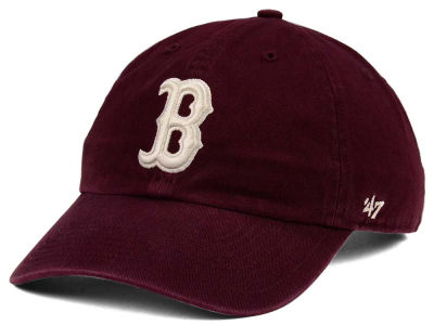Boston Red Sox '47 MLB Dark Maroon CLEAN UP Cap