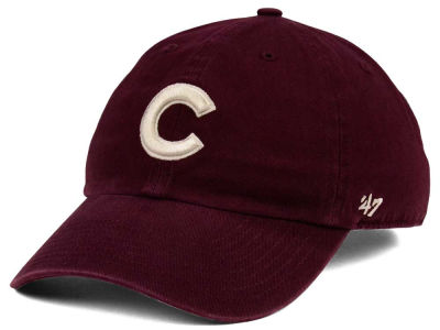 Chicago Cubs '47 MLB Dark Maroon CLEAN UP Cap