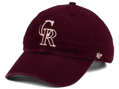 Colorado Rockies '47 MLB Dark Maroon CLEAN UP Cap
