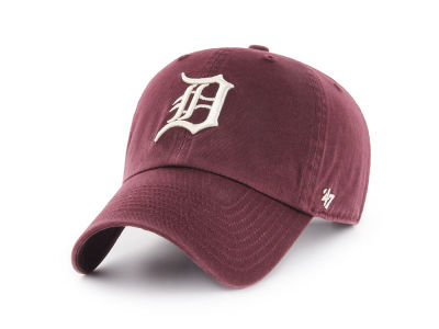 Detroit Tigers '47 MLB Dark Maroon CLEAN UP Cap