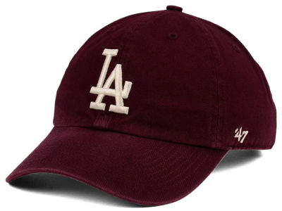 Los Angeles Dodgers '47 MLB Dark Maroon CLEAN UP Cap