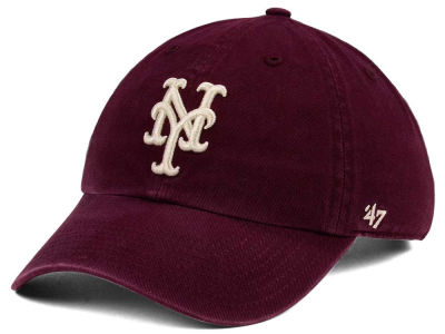New York Mets '47 MLB Dark Maroon CLEAN UP Cap