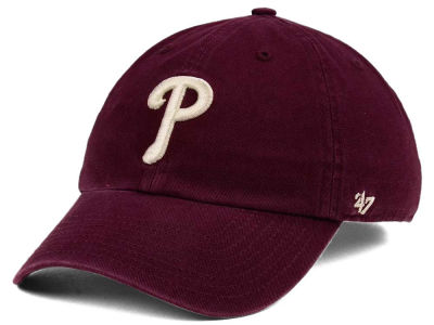 Philadelphia Phillies '47 MLB Dark Maroon CLEAN UP Cap