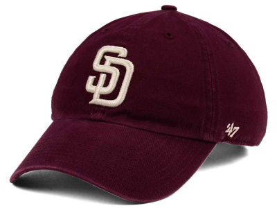 San Diego Padres '47 MLB Dark Maroon CLEAN UP Cap