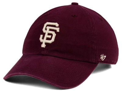 San Francisco Giants '47 MLB Dark Maroon CLEAN UP Cap