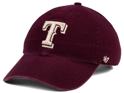 Texas Rangers '47 MLB Dark Maroon CLEAN UP Cap