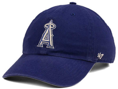 Los Angeles Angels '47 MLB Timber Blue CLEAN UP Cap