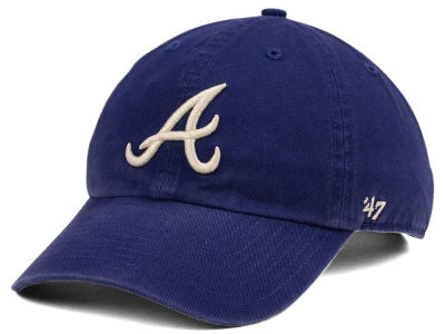 Atlanta Braves '47 MLB Timber Blue CLEAN UP Cap