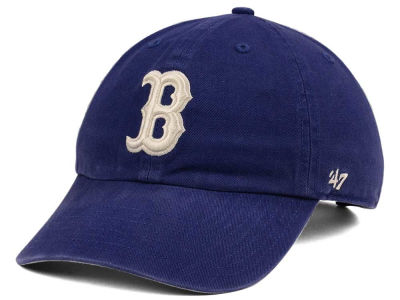 Boston Red Sox '47 MLB Timber Blue CLEAN UP Cap