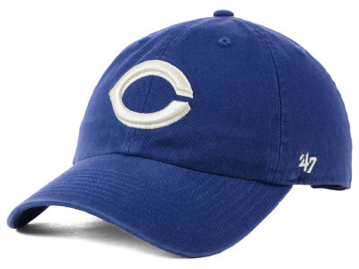 Cincinnati Reds '47 MLB Timber Blue CLEAN UP Cap